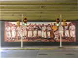 baseball player mural